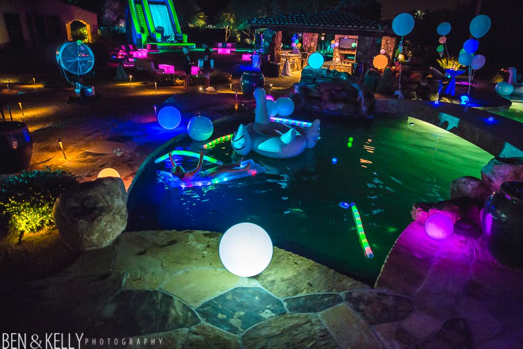 Night Pool Party Decorations